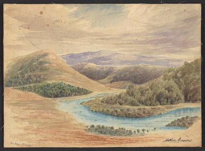 Painting, 'Puhoi River'