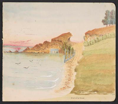 Painting, 'The old cutting, Tamaki'