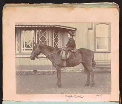 Photograph [Horse and Donald Buckland]