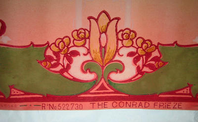 Wallpaper frieze sample, 'The Conrad Frieze'