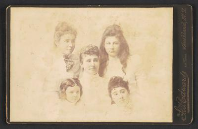 Cabinet photograph [Sophia Kerr Taylor and daughters]