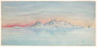 Painting, 'Aden from the Anchorage'